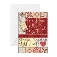 Friendships Are Like Quilts Greeting Cards (Packag