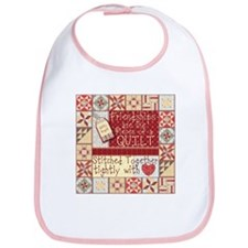 Friendships Are Like Quilts Bib