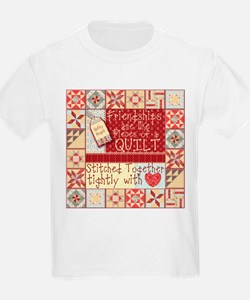 Friendships Are Like Quilts Kids T-Shirt