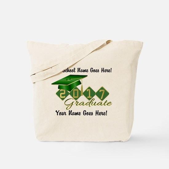 Graduate 2017 Green Gold Tote Bag