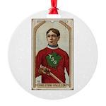 Vezina Third String Goalie Round Ornament