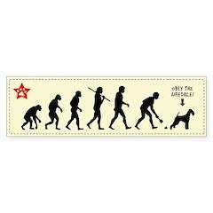 AIREDALE Evolution - Dog Bumper Bumper Sticker