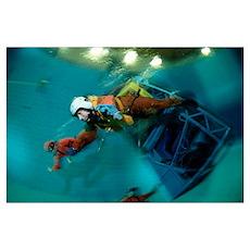 Aircraft water crash simulation Poster
