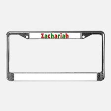 Zachariah Christmas License Plate Frame