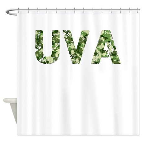 Uva Vintage Camo Shower Curtain By Thecafemarket