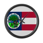 Flag of Florida 1861 Large Wall Clock