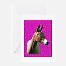 Pink mule head Greeting Card