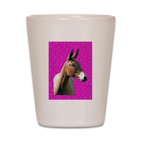 Pink mule head Shot Glass