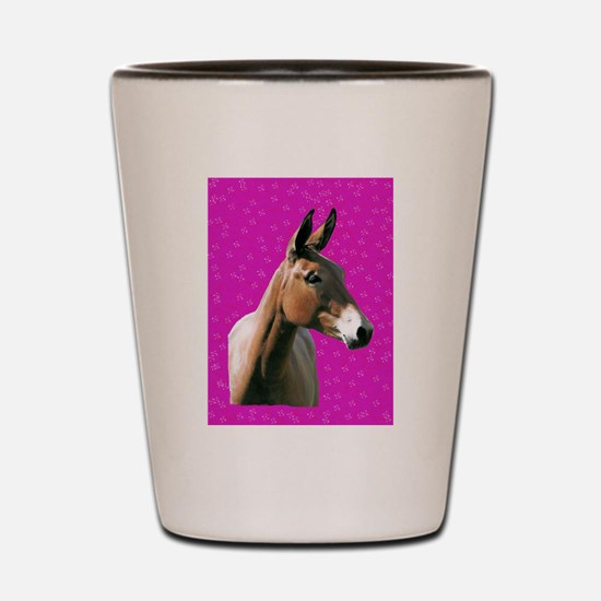 Pink mule head Shot Glass