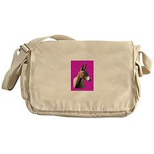 Pink mule head Messenger Bag
