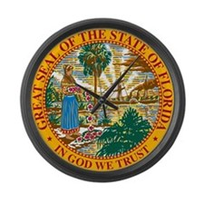 Great Seal of Florida Large Wall Clock