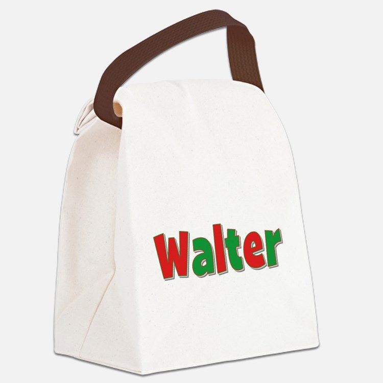 Walter Christmas Canvas Lunch Bag