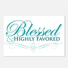 Blessed & Highly Favored Postcards (Package of 8)