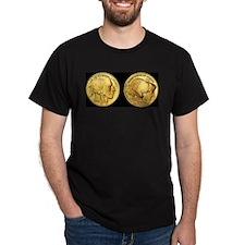 Black-Gold Indian-Buffalo T-Shirt