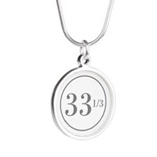 Long Playing Silver Round Necklace