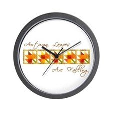 Autumn Leaves Are Falling  Wall Clock