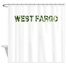 West Fargo, Vintage Camo, Shower Curtain
