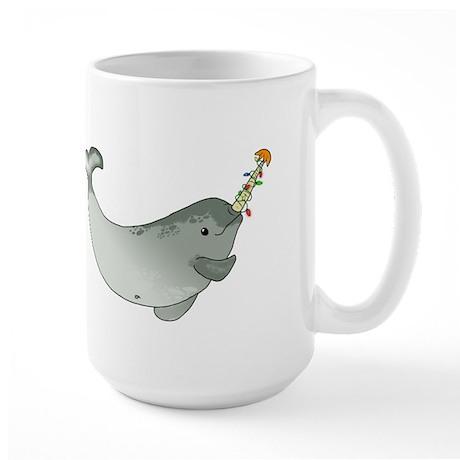 Christmas Narwhal Large Mug