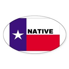 Texas Native Oval Decal