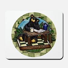 Coffee Drinking Bear Mousepad