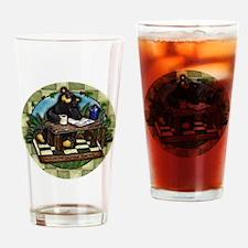 Coffee Drinking Bear Drinking Glass
