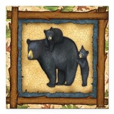 "Best Seller Bear Square Car Magnet 3"" x 3"""