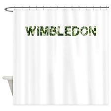 Wimbledon, Vintage Camo, Shower Curtain