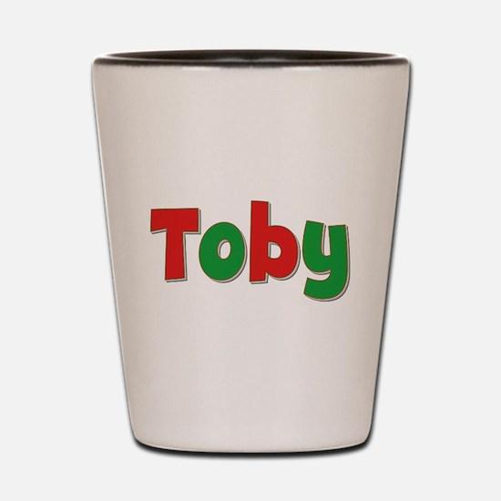 Toby Christmas Shot Glass