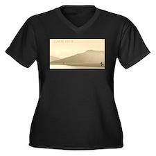 Carpe Diem Women's Plus Size V-Neck Dark T-Shirt