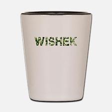 Wishek, Vintage Camo, Shot Glass