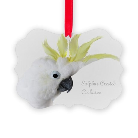 Sulphur Crested Cockatoo Picture Ornament