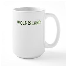 Wolf Island, Vintage Camo, Mug