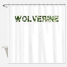 Wolverine, Vintage Camo, Shower Curtain