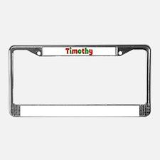 Timothy Christmas License Plate Frame