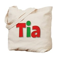 Tia Christmas Tote Bag