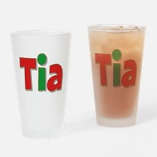 Tia Christmas Drinking Glass