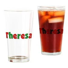 Theresa Christmas Drinking Glass