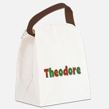 Theodore Christmas Canvas Lunch Bag