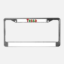 Tessa Christmas License Plate Frame