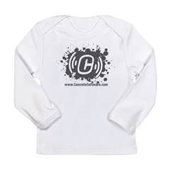 Grunge With Website Long Sleeve Infant T-Shirt