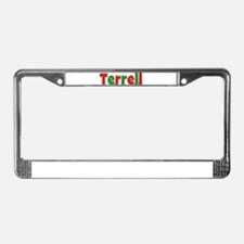 Terrell Christmas License Plate Frame