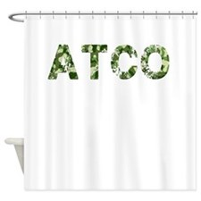 Atco, Vintage Camo, Shower Curtain