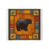 Black bear Fleece Blankets