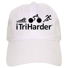 iTriHarder triathlon motto Baseball Cap