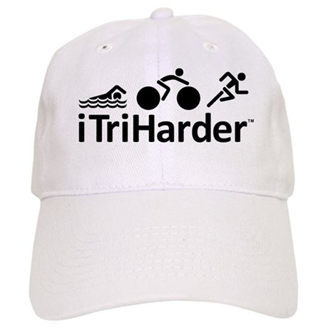 iTriHarder triathlon motto Cap