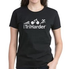 iTriHarder triathlon motto Tee