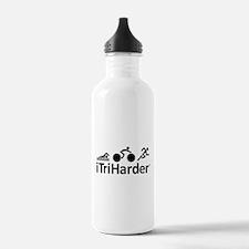iTriHarder triathlon motto Water Bottle