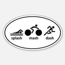 Splash Mash Dash Sticker (Oval)