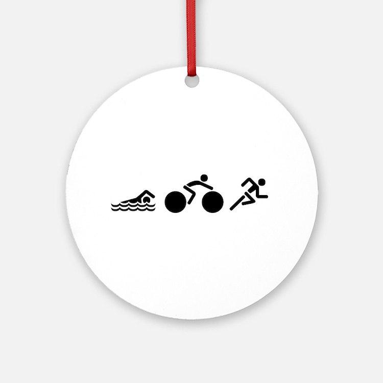 Triathlon Icons Ornament (Round)