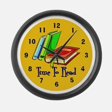 Funny Literature Large Wall Clock